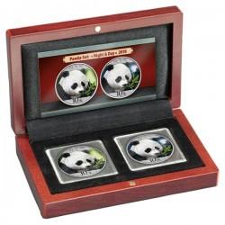 """Panda 2018 """"Nappal és éjszaka"""" 2 x 30 gramm ezüst pénzérme"""