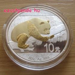 Panda 2016 30 gramm aranyozott ezüst pénzérme