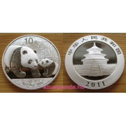 Panda 2011 1 uncia ezüst pénzérme