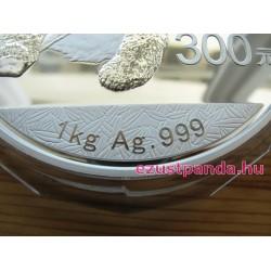 Panda 2014 1 kg proof ezüst pénzérme