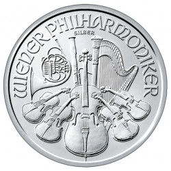 20x Philharmoniker 2020 1 uncia ezüst pénzérme (teljes tubus)
