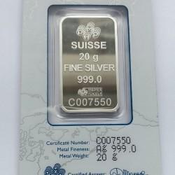 Ezüstrúd 20 gramm PAMP (svájci)