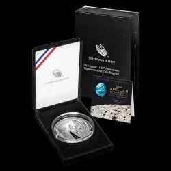 Apollo 11 USA 2019 5 uncia proof ezüst pénzérme