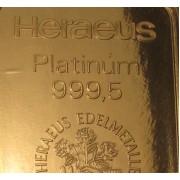Platina érmék és rudak