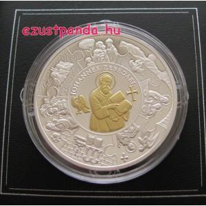 Szent János apostol - Libéria 2011 aranyozott proof ezüst pénzérme