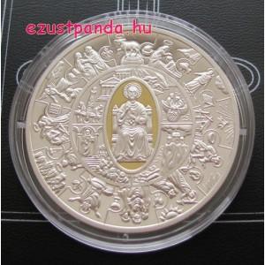Szent Péter apostol - Libéria 2010 aranyozott proof ezüst pénzérme