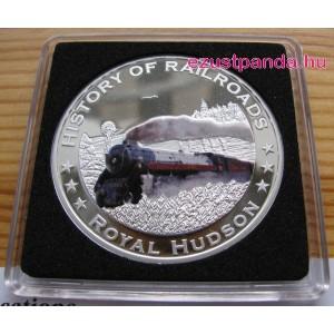 Vonatok Libéria - Royal Hudson 2011 színes proof ezüst pénzérme