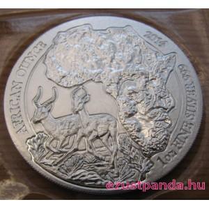 Ruanda Impala 2014 1 uncia ezüst pénzérme