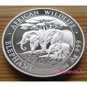 Szomália Elefánt 2013 1 uncia ezüst pénzérme