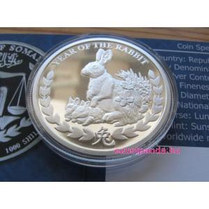Szomáliföld Nyúl éve 2011 1 uncia proof ezüst pénzérme