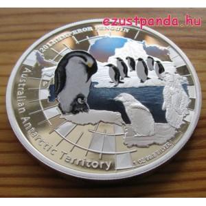 Antarktisz - Pingvin 2012 1 uncia proof ezüst pénzérme