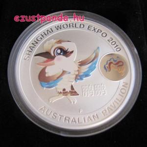 Shanghai kookaburra kabala 2010 1 uncia ausztrál ezüst pénzérme