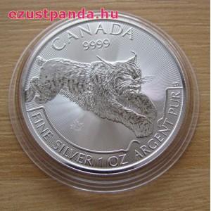 Hiúz / Lynx 2017 1 uncia ezüst pénzérme
