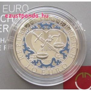 Angyalok - Mihály arkangyal 10 EUR 2017 proof ezüst pénzérme