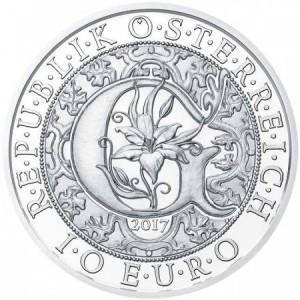 Angyalok - Gábriel arkangyal 10 EUR 2017 ezüst pénzérme