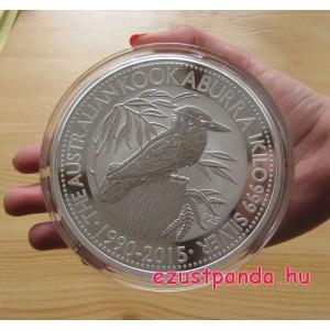 Kookaburra 2016 1 kilogramm ezüst pénzérme