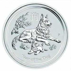 Lunar2 Kutya éve 2018 1 kilogramm ezüst pénzérme