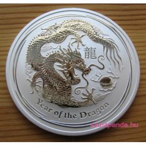 Lunar2 Sárkány éve 2012 1/2 uncia ezüst pénzérme