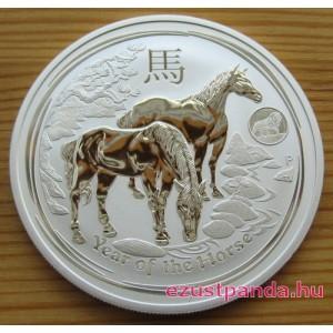Lunar2 Ló éve 2014 Oroszlán verdejeles 1 uncia ezüst pénzérme