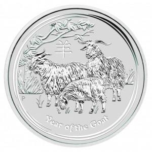 Lunar2 Kecske éve 2015 10 uncia ezüst pénzérme