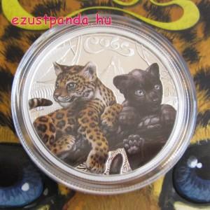 Jaguárkölykök 2016 1/2 uncia színes ezüst pénzérme