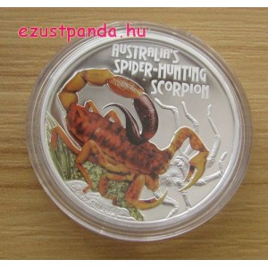 Skorpiók - Ausztrál pókvadász 2014 1 uncia proof ezüst pénzérme