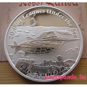 Mesebeli hajók - A Nautilus (Verne) 2015 1 uncia proof ezüst pénzérme